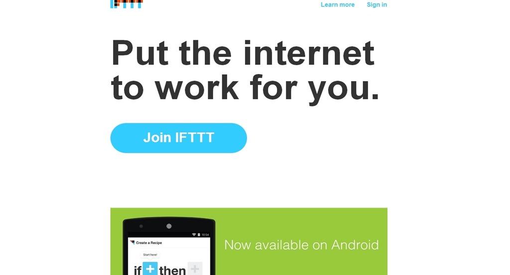 Обзор. IFTTT: Интернет работает на тебя