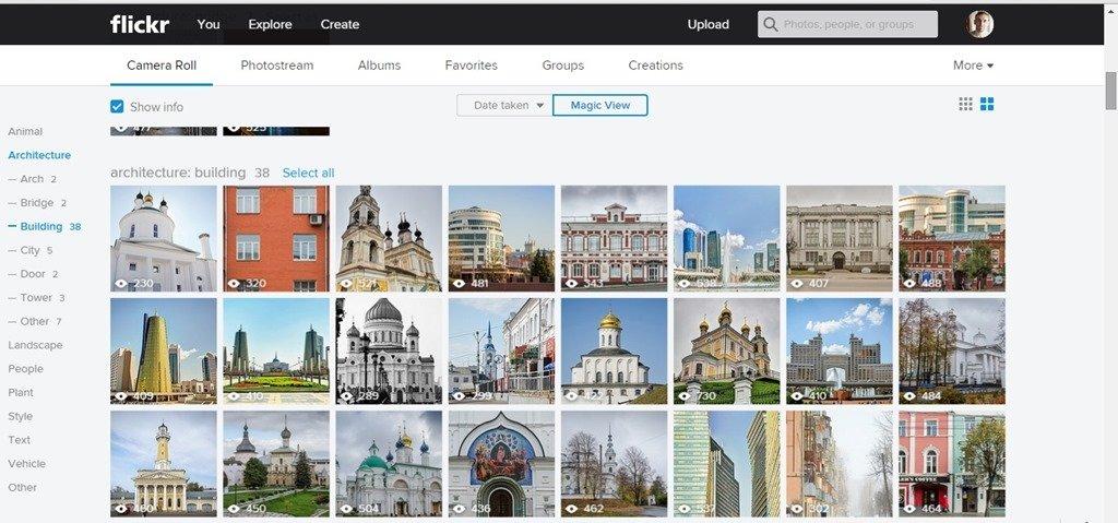 Camera roll для Flickr