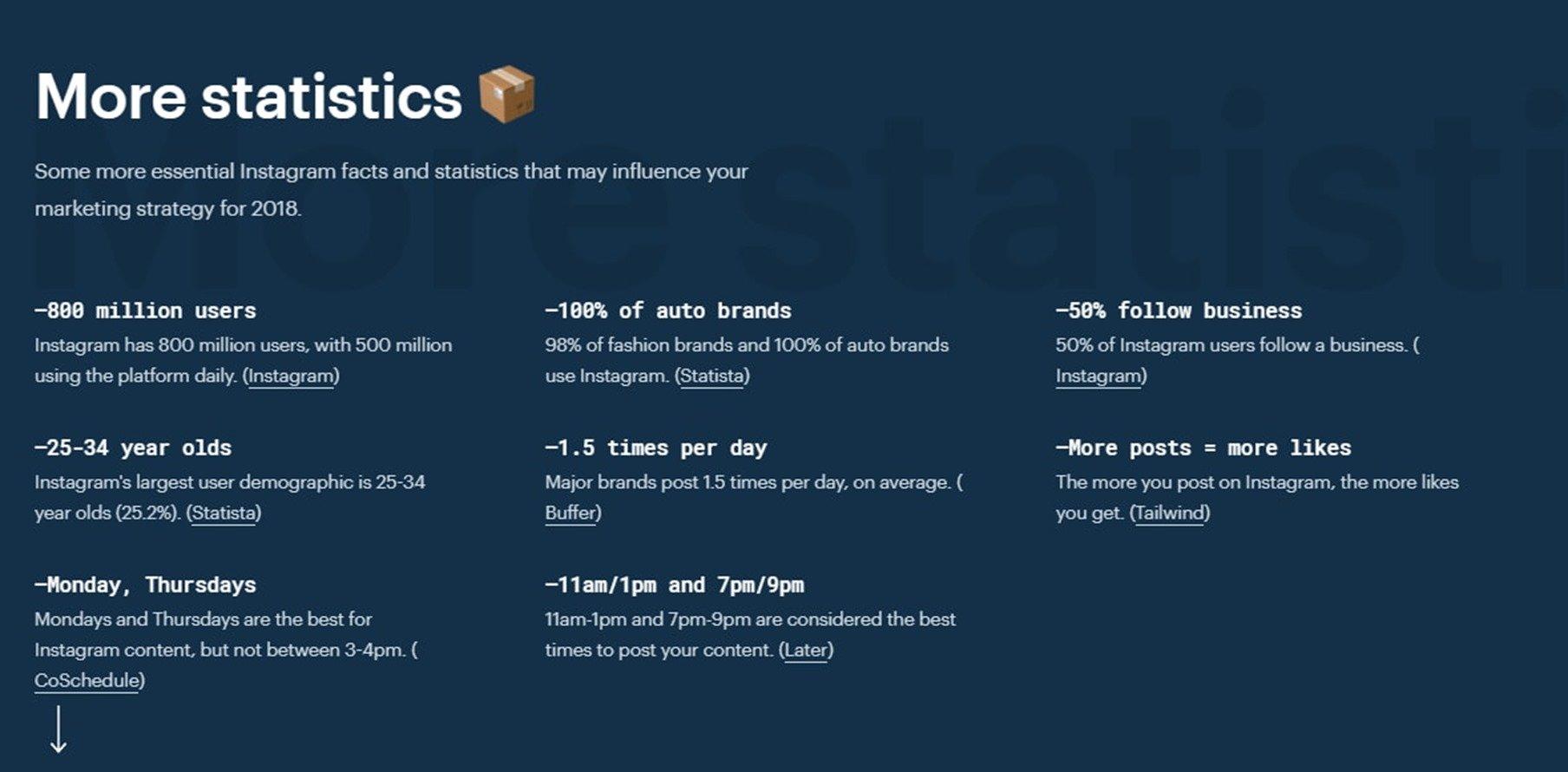 Сводная статистика Инстаграм